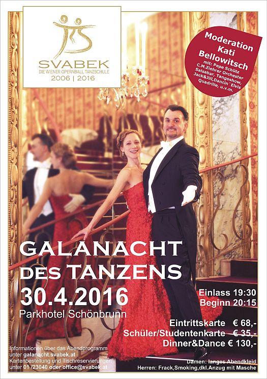 Galanacht des Tanzens 30. April 2016